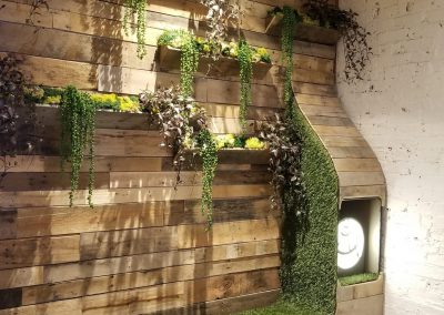 Artificial plant wood wall