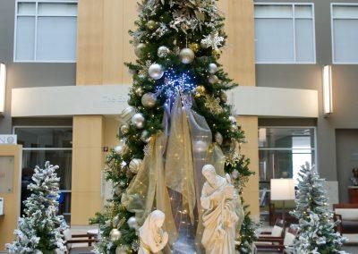 Hospital Lobby Nativity with Tree
