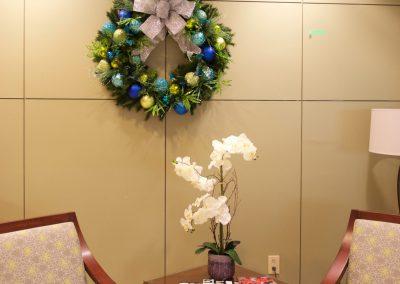 Hospital lobby wreath