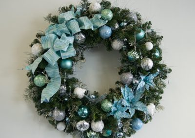 Light blue and silver wreath