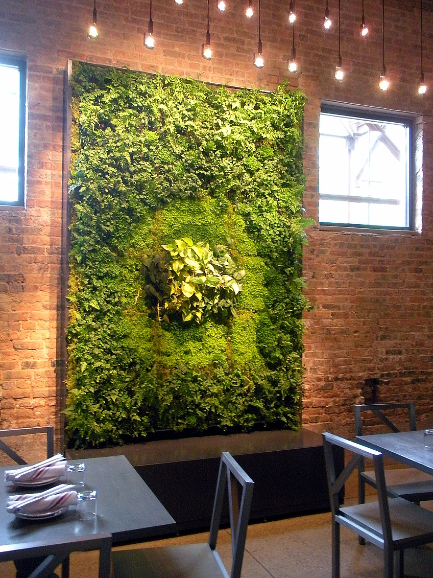 10 Ways To Decorate With Green Moss: Green Walls, Living Walls, Vertical Gardens, Wall Gardens