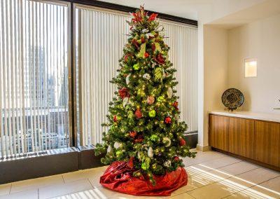 Lime Green & Red Christmas Tree